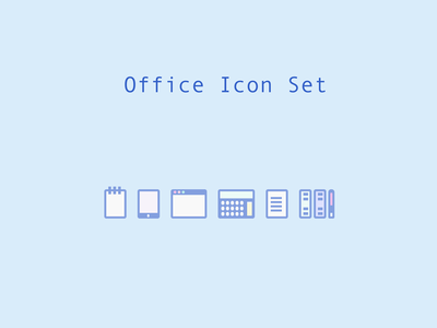 """Office icons """"Officons"""" [HTML / CSS]"""