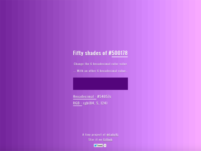 Fifty Shades Of <color>