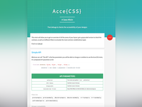 AcceCSS - Homepage