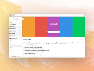 Colorify.js colors github html css javascript canvas images html5 css3 layout ui ux