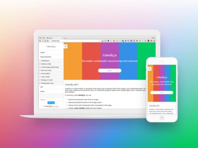 Colorify.js V1  images canvas layout html5 github colors javascript html css3 ux ui css