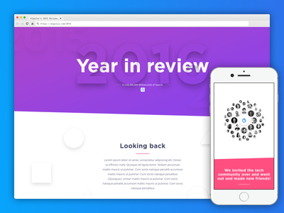 Algolia's 2016 year review webdesign design year review ux ui review algolia