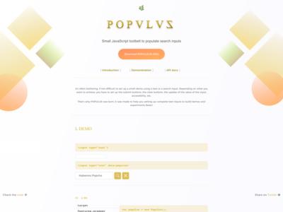 Populus.js accessibility form input design ux ui