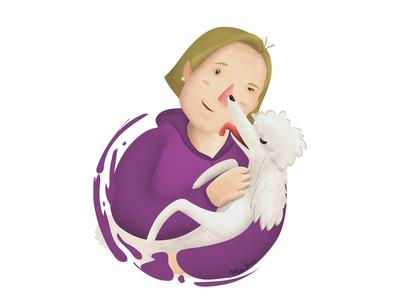 Mom & peter Illustration