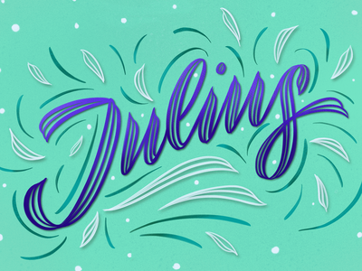 Hello, Julius!✨✨ name spring procreate typography illustration lettering