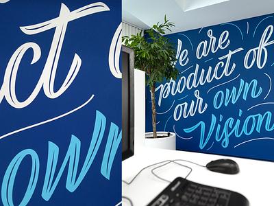 Algo Capital   Environmental graphics design branding office space inspirational quote fourplus mural environmental design typography lettering