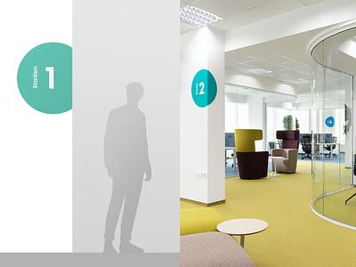 Algo Capital | Wayfinding system identity environmental design office space signage branding wayfinding system navigation wayfinding motion graphics animation design fourplus typography