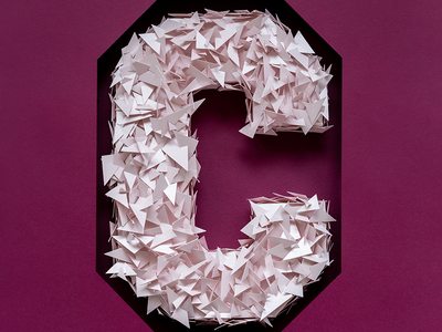 C for Crystal | COLORS crystals hand crafted set design photography typography paperart illustration papercraft