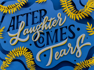 TypoBeef #1 | After Laughter (Comes Tears) hand crafted photography typography set design paperart illustration lettering papercraft