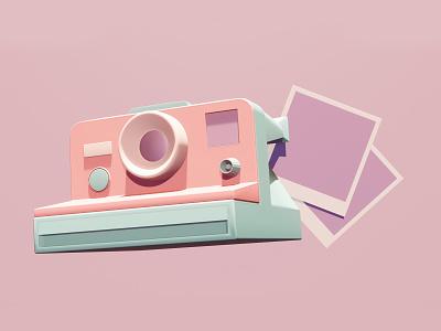 Polaroid camera picture polaroid camera illustration 3d 3d art blender3d
