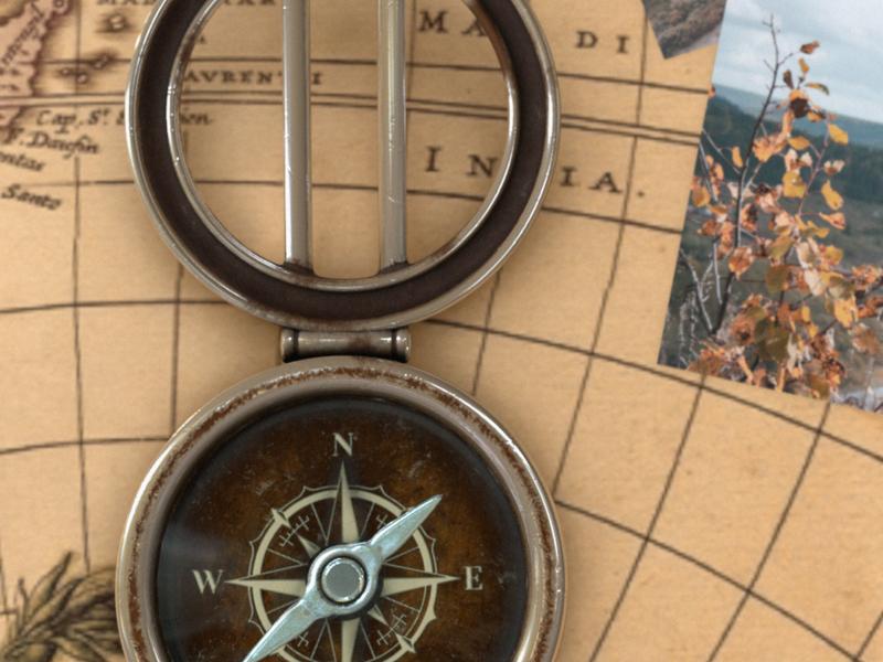 Compass map vintage compass travel symbol geometry nature blender3d 3d art concept 3d