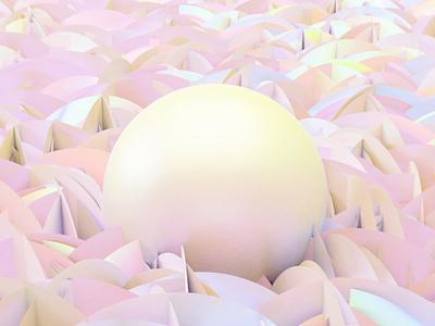 Pearls Born nature symbol geometry peral design blender3d 3d art concept 3d