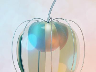 Physalis nature geometry symbol 3d art blender3d concept illustration 3d