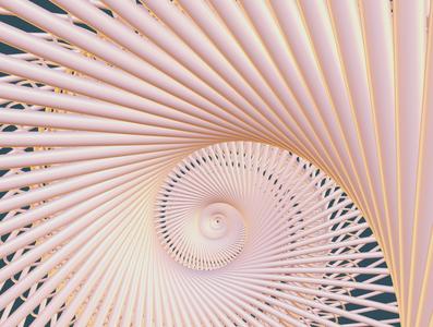 Inside the shell abstract art nature geometry concept 3d illustration blender3d 3d art
