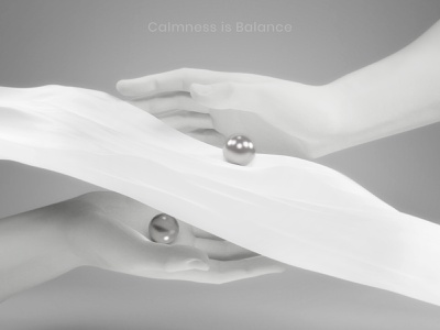 Calmness is balance calm balance meditation arms symbol design illustration 3d concept blender3d 3d art