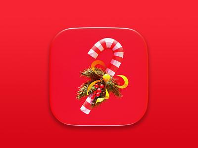 Christmas Candy symbol digital cgi blender3d concept render illustration design 3d christmas icon