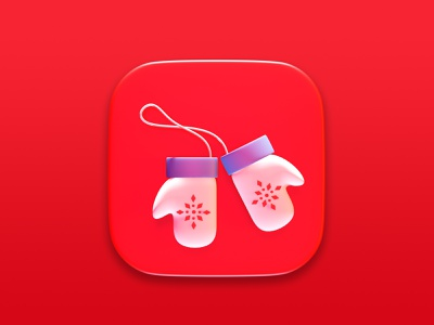 Christmas Mittens 3d art digital cgi render 3d concept christmas symbol illustration design icon