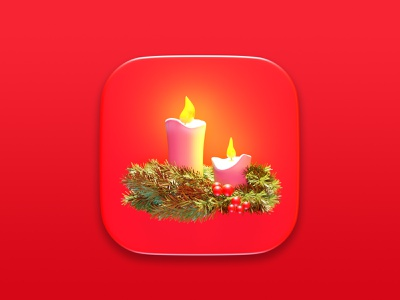 Christmas Candles 3d art symbol geometry digital cgi render icon illustration concept candle christmas 3d