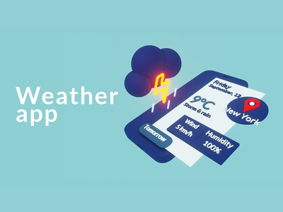 Weather App in 3d