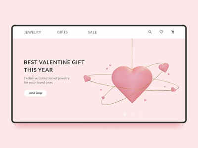 Promo page for St. Valentine