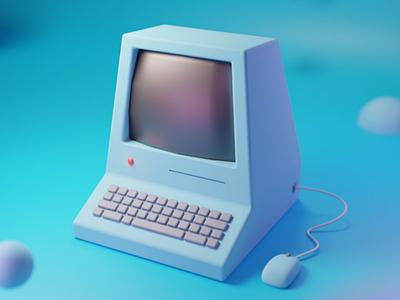 Computador antigo 3d blender
