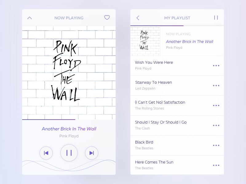 Music Player App by Happixel on Dribbble