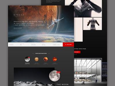 #SPACEDchallenge Landing Page web design ui branding