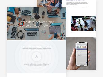 Airbytes.me - About Page app web design website design product design design branding ui