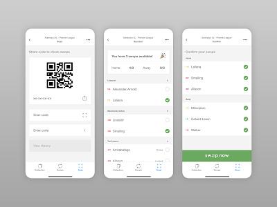 Swops - Trading card app mobile app design trading cards ux design app product design branding ui