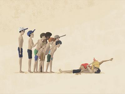 Squints, The Unsung Hero of Our Generation summer pool squints peffercorn wendy baseball hero unsung illustration sandlot