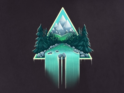 A Swiss Day illustrator photoshop mountains triangle nature switzerland swiss vector