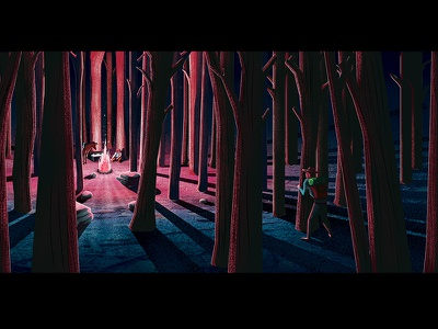 Thieves Hideout night campfire forest woods thieves msw photoshop illustrator illustration