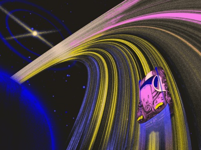 The looper planate car ring star illustration