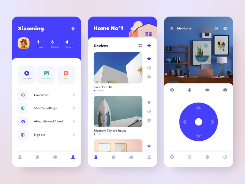 Wansview Cloud Smart Home app by Xiaoming Pan for NICE 100 on Dribbble