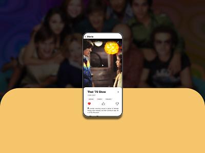 Movie Profile ux movie design app
