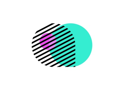AC Brand Exploration layers diagonal neon c a agency icon logo app minimal illustrator blend modes circles lines stripes flat clean identity branding ac