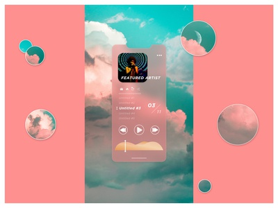 Music Player UI audio playback soundwave scrub buttons icons singer blur soundcloud music app ui ux dailyui app iphone clouds moon sound music player itunes spotify