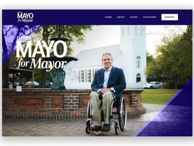 David Mayo For Mayor - Website Header