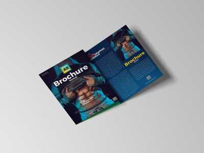Free Brand A5 Tri Fold Brochure Mockup