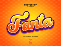 Free Photoshop Fanta Text Effect