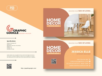 Free Interior Business Card Design Template freebie download interior design print design freebies free template design templatedesign templates template business card template business card design business cards business card