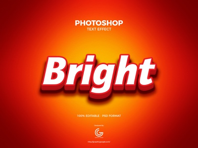 Free Bright Photoshop Text Effect illustration print typography branding photoshop action design graphics download freebies freebie free fonts font free font text text effects text effect