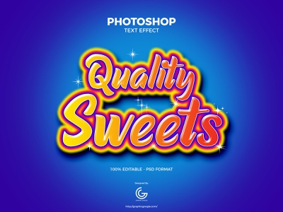 Free Sweets Photoshop Text Effect text effects psd download freebies freebie free templates free template template text effect