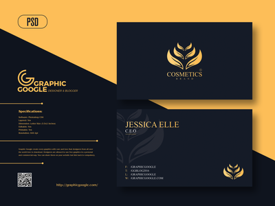 Free Cosmetics Business Card Design business card design graphics download print print design freebies freebie free template design free template templates template business card design business cards businesscard