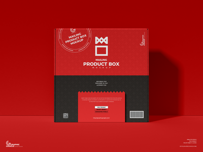 Free Mailing Box Mockup psd print template stationery mockups packaging design identity freebie free box mockup packaging mockup mockup psd mockup free free mockup mock-up mockup packaging font download branding