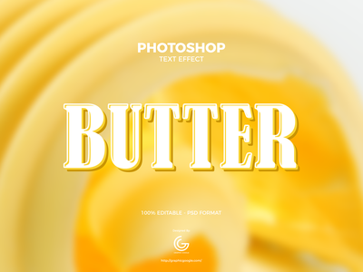 Free Butter Photoshop Text Effect graphics design print design print download text style freebies free free font font calligraphy text effects text effect