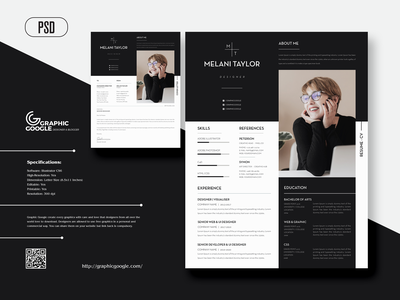 Free Modern CV Resume With Cover Letter For Designers ux designer ui designer web developer web designer graphic designer design graphics freebies freebie free cover letter template cover letter resume template resume design cv resume resume cv resume template cv design cv template cv