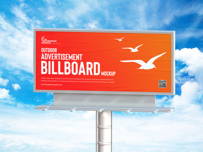 Free Outdoor Advertisement Billboard Mockup psd print template stationery mockups advertising identity freebie free hoarding mockup billboard mockup mockup psd mockup free free mockup mock-up mockup billboard font download branding