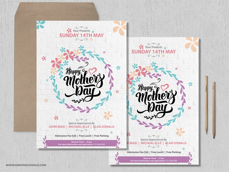 free pretty mothers day flyer template by graphic google dribbble