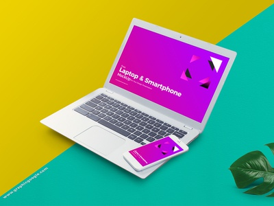 Free Laptop & Smart Phone Mockup For Your Design Presentation free freebies free mockup mockup